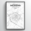 Modena City Map Art Print - Point Two Design