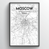 Moscow City Map Art Print - Point Two Design