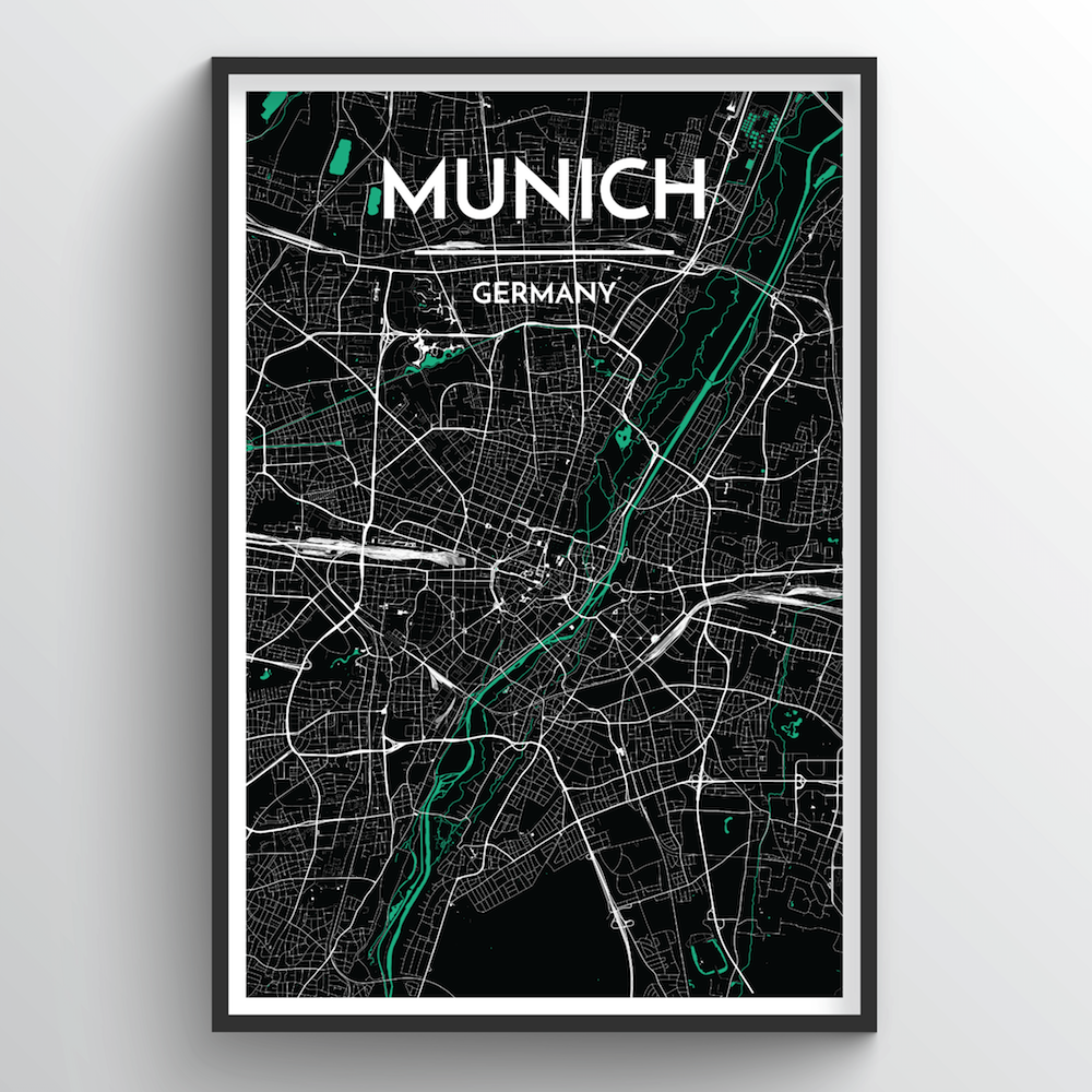 Munich City Map Art Print - Point Two Design