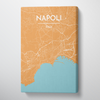 Napoli City Map Canvas Wrap - Point Two Design