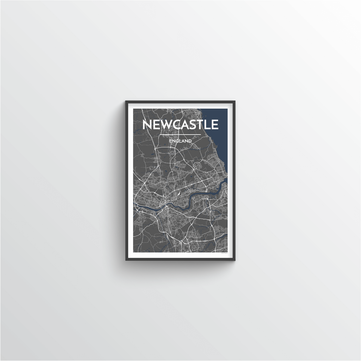 Newcastle Map Art Print
