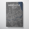 Newcastle City Map Canvas Wrap - Point Two Design