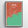 Nice City Map Art Print - Point Two Design