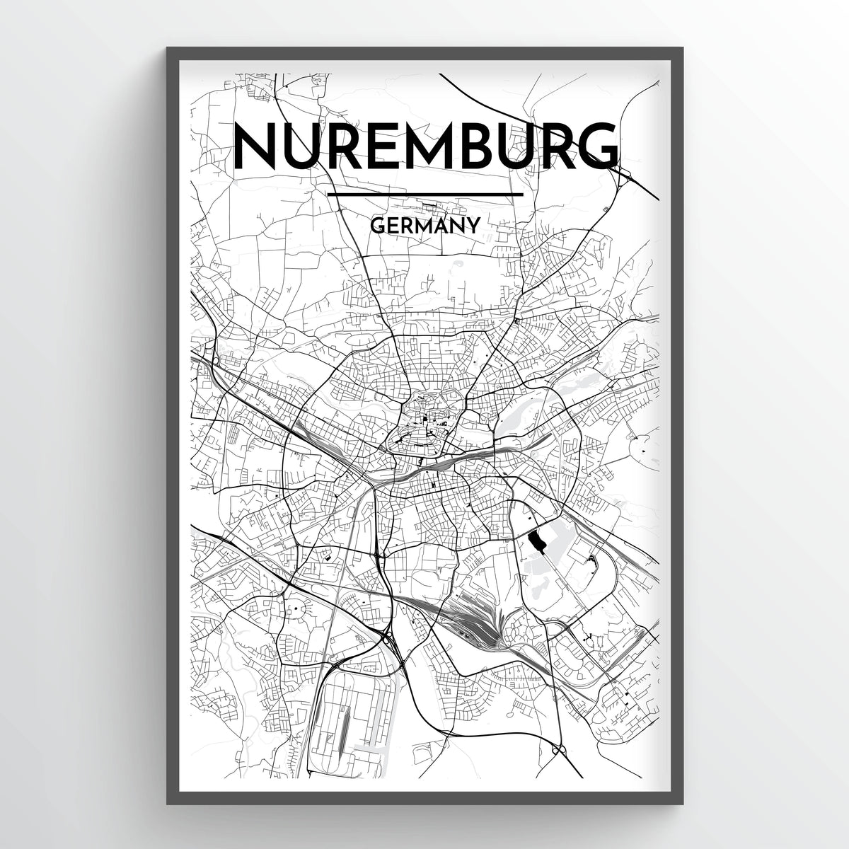 Nuremburg Map Art Print