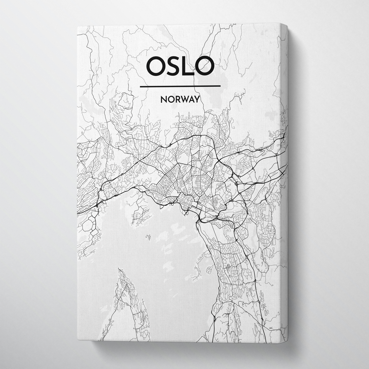Oslo Map Art - Canvas Wrap - Point Two Design