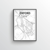 Oxford City Map Art Print - Point Two Design