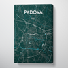 Padova City Map Canvas Wrap - Point Two Design