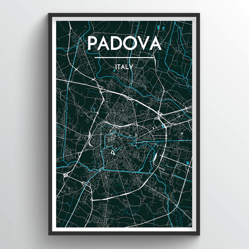 Padova City Map Art Print - Point Two Design