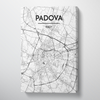 Padova City Map Canvas Wrap - Point Two Design - Black & White Print
