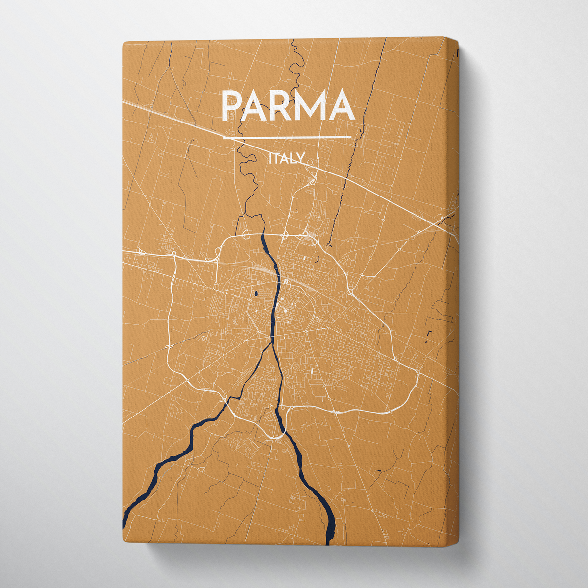 Parma City Map Canvas Wrap - Point Two Design