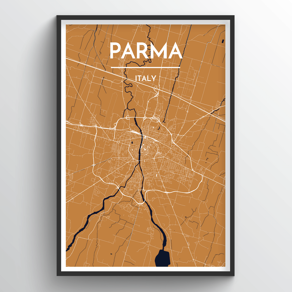 Parma City Map Art Print - Point Two Design