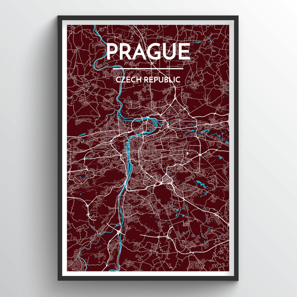 Prague City Map Art Print - Point Two Design