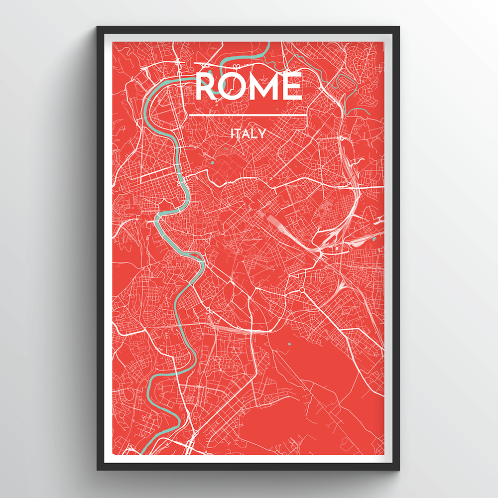 Rome City Map Art Print - Point Two Design