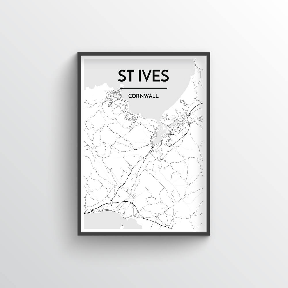 St Ives City Map Art Print - Point Two Design