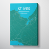 St Ives City Map Canvas Wrap - Point Two Design