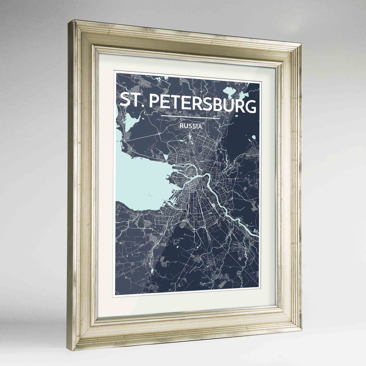 "Framed St Petersburg 24x36"" Champagne frame Point Two Design Group"