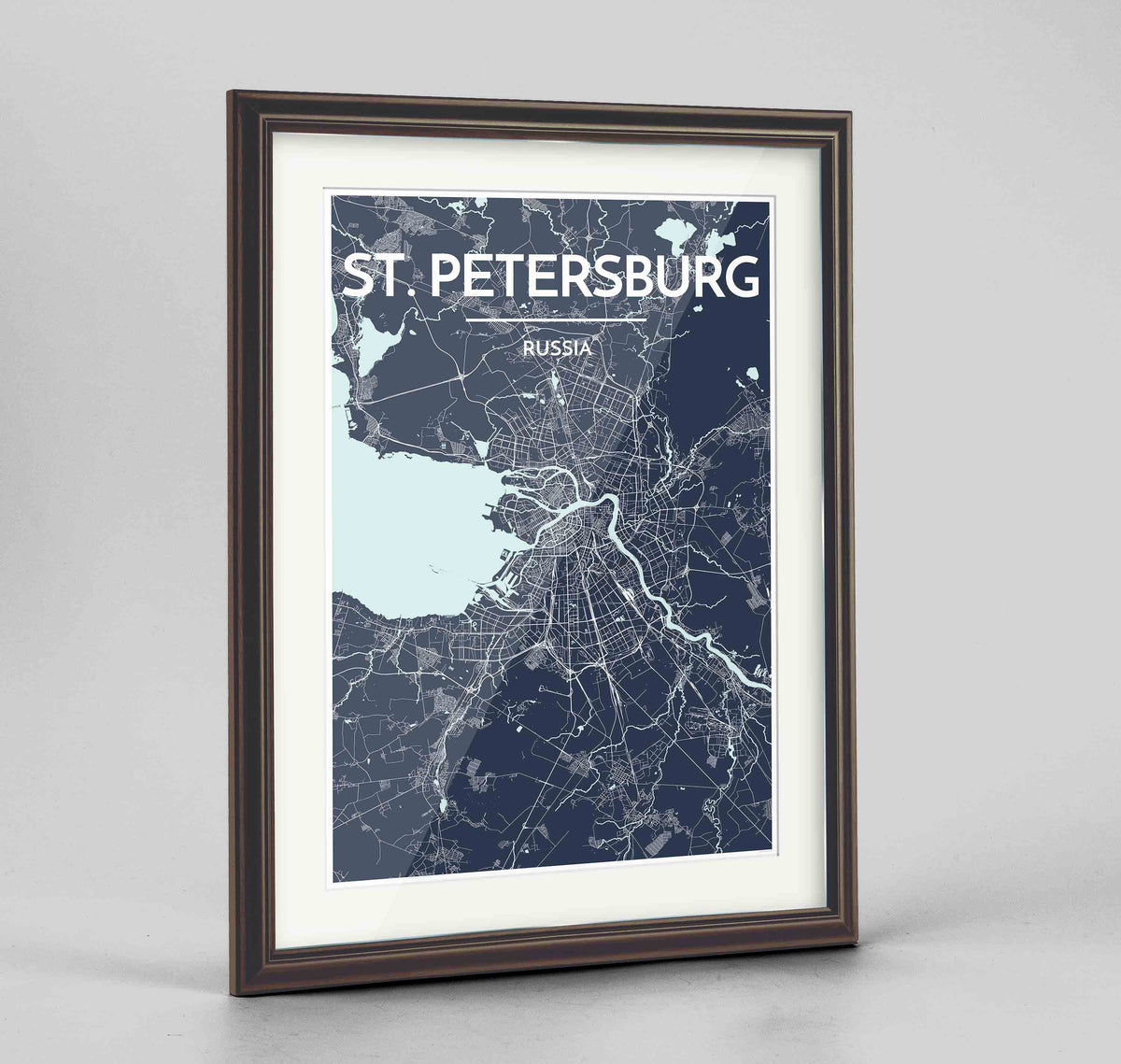 "Framed St Petersburg 24x36"" Traditional Walnut frame Point Two Design Group"