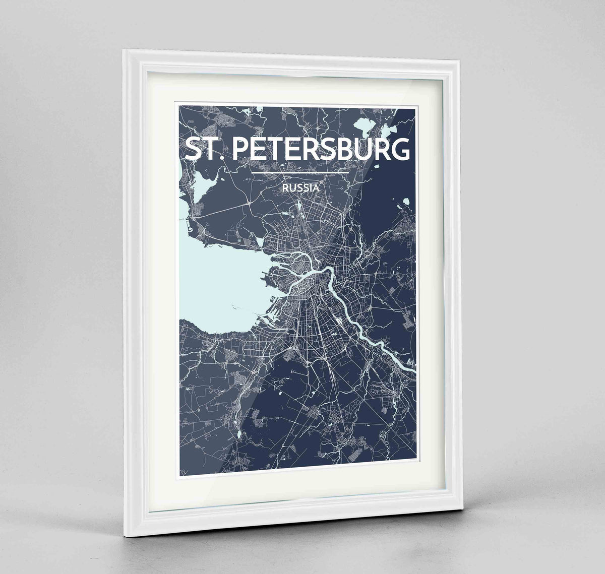 "Framed St Petersburg 24x36"" Traditional White frame Point Two Design Group"