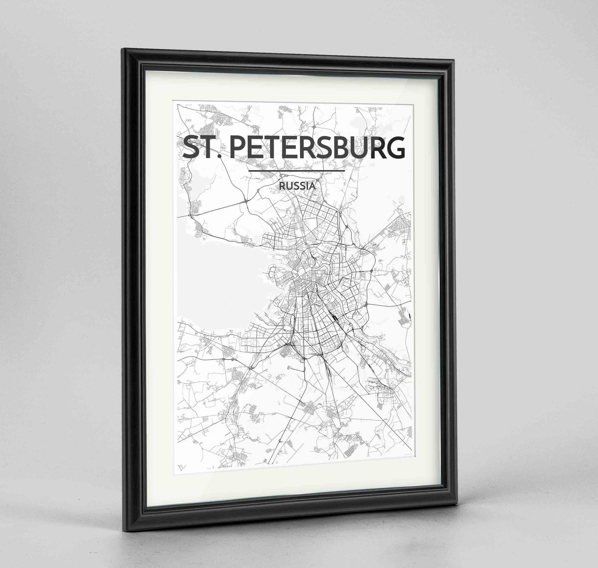"Framed St Petersburg 24x36"" Traditional Black frame Point Two Design Group"