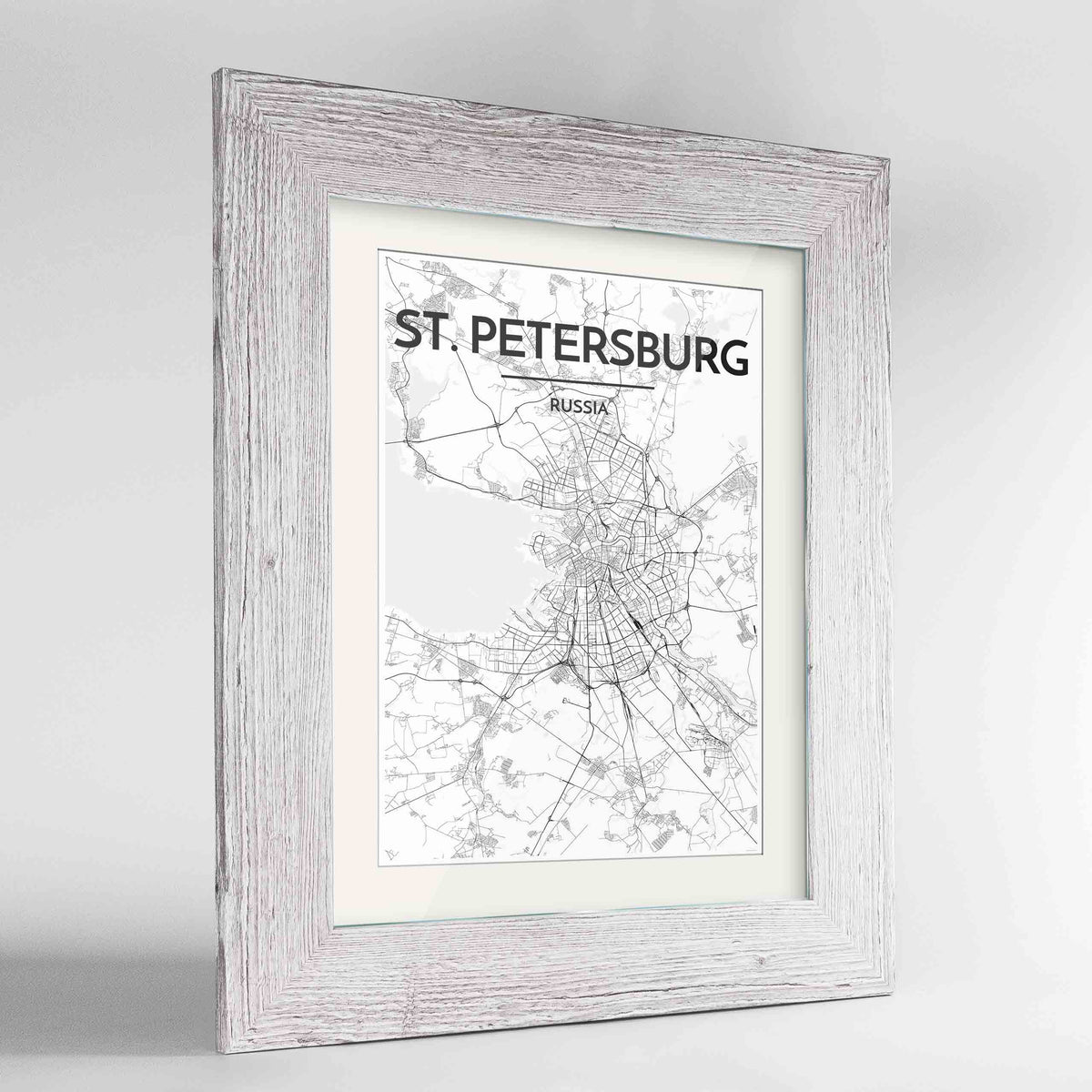"Framed St Petersburg 24x36"" Western White frame Point Two Design Group"