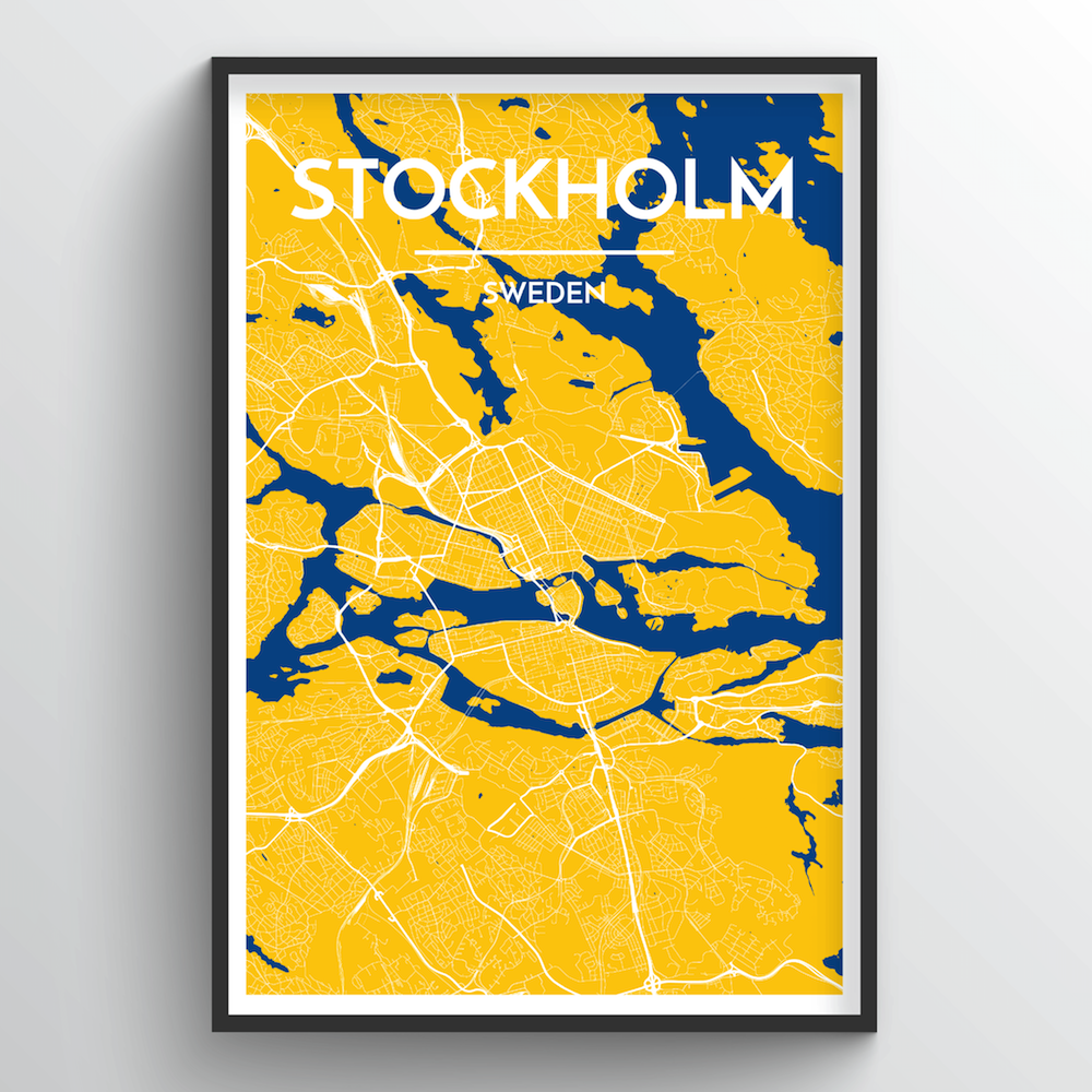 Stockholm City Map Art Print - Point Two Design