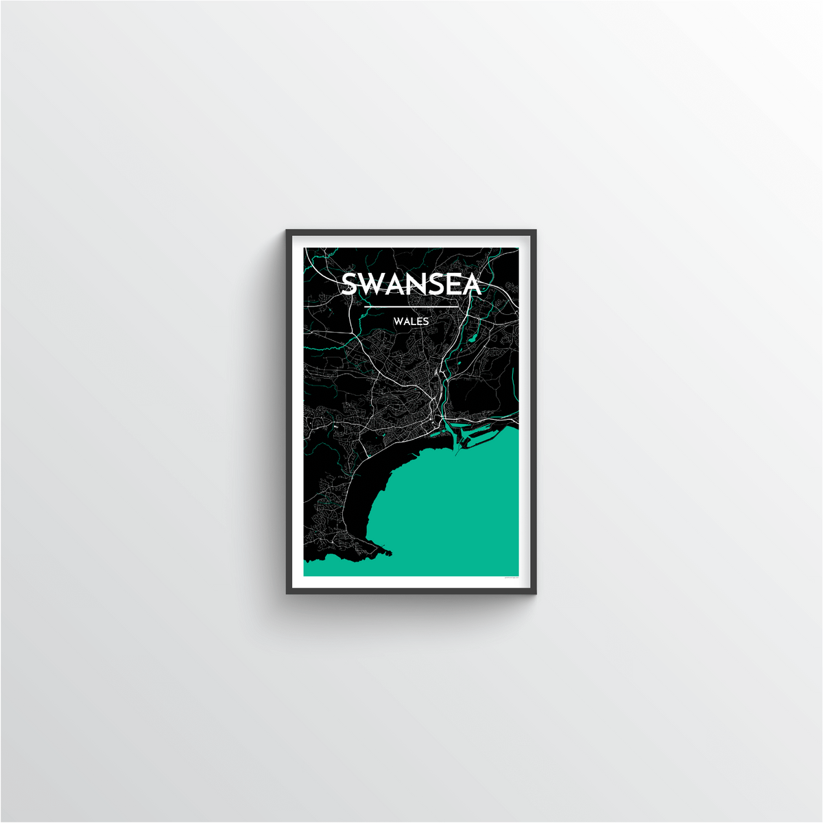 Swansea Map Art Print