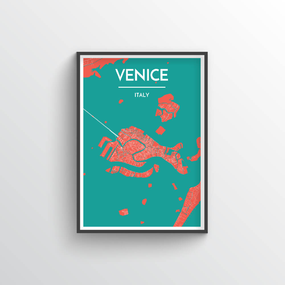 Venice Map Art Print - Point Two Design
