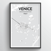 Venice City Map Art Print - Point Two Design
