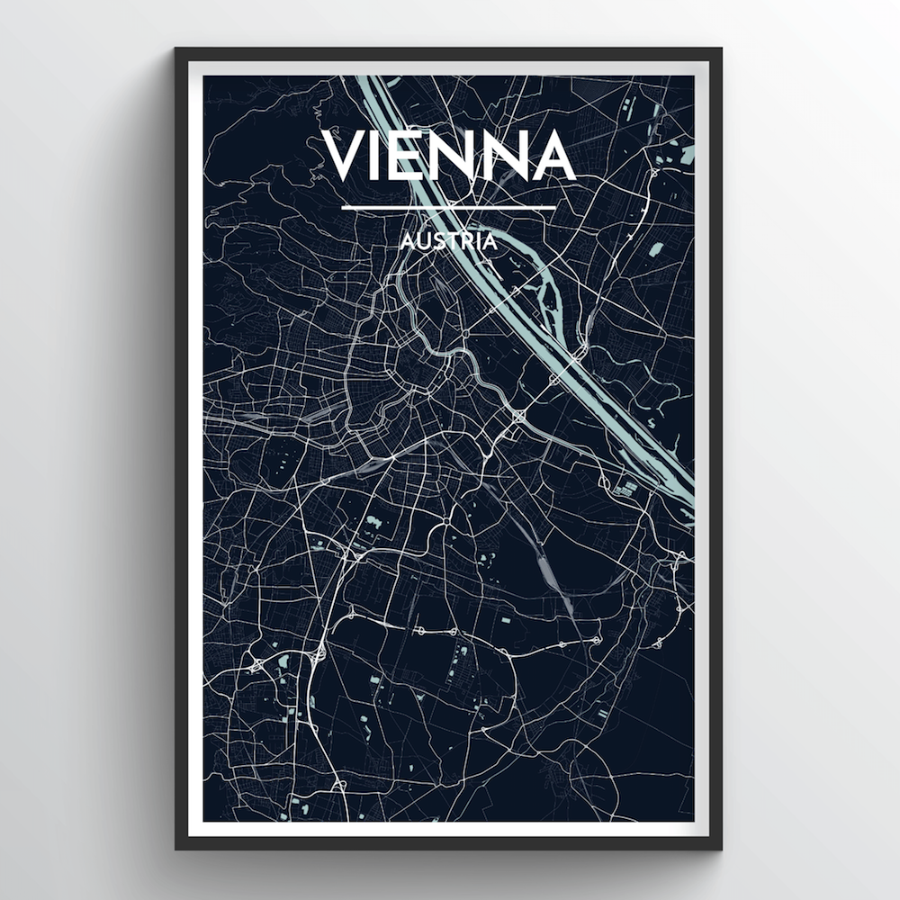 Vienna City Map Art Print - Point Two Design