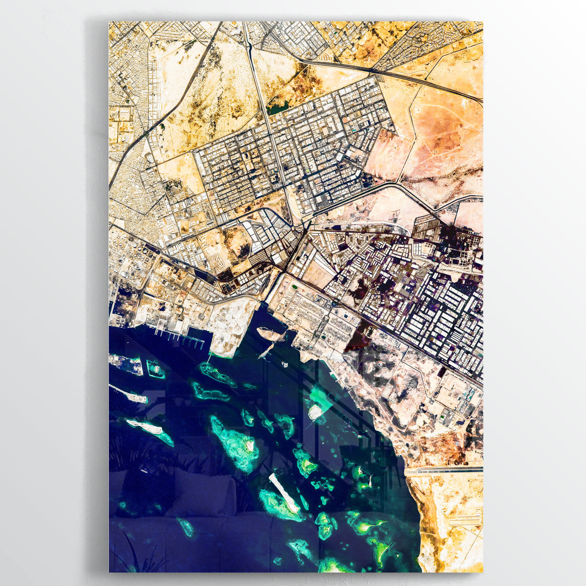 Jeddah Earth Photography - Floating Acrylic Art