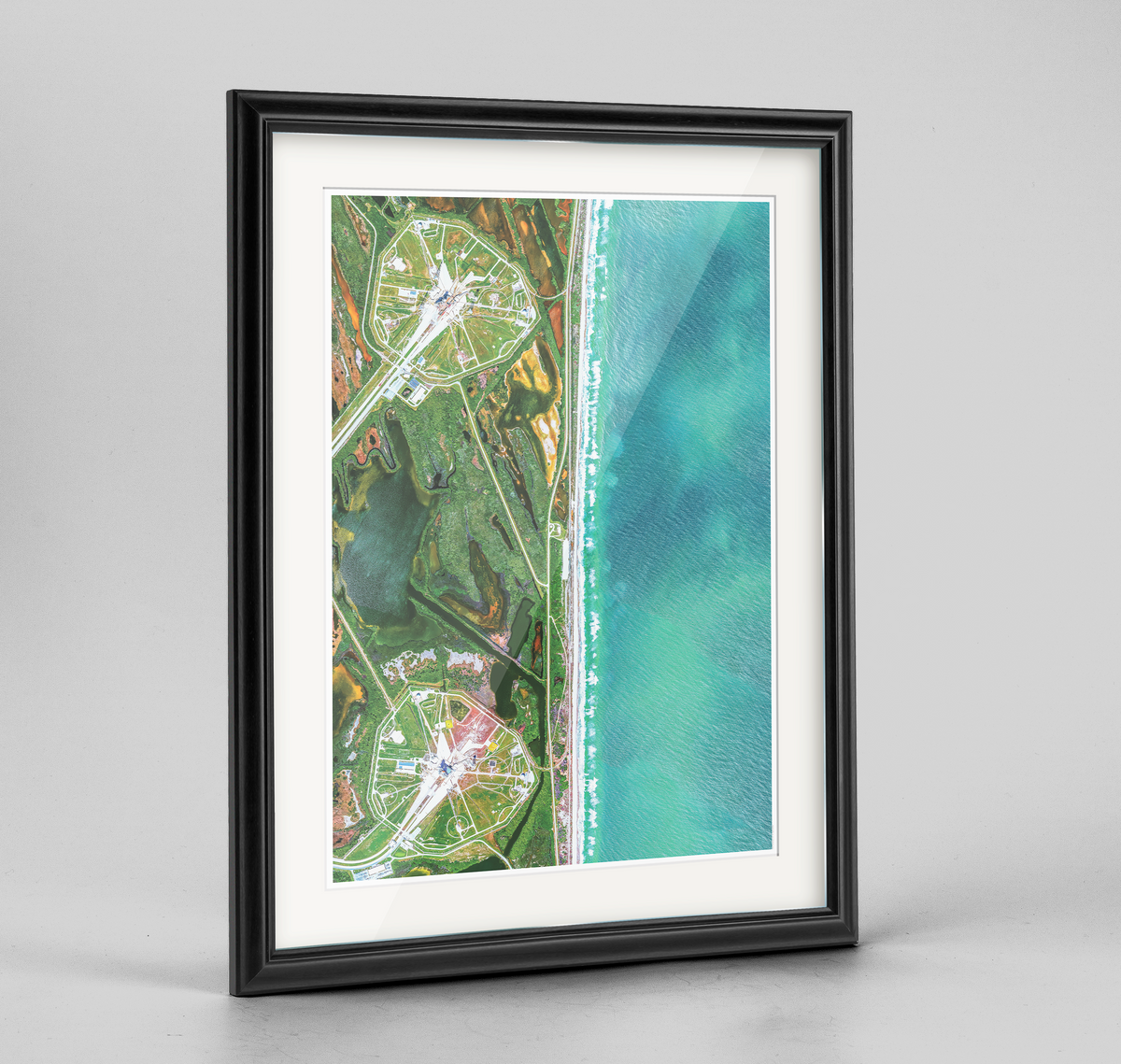 Kennedy Space Center Earth Photography Art Print - Framed