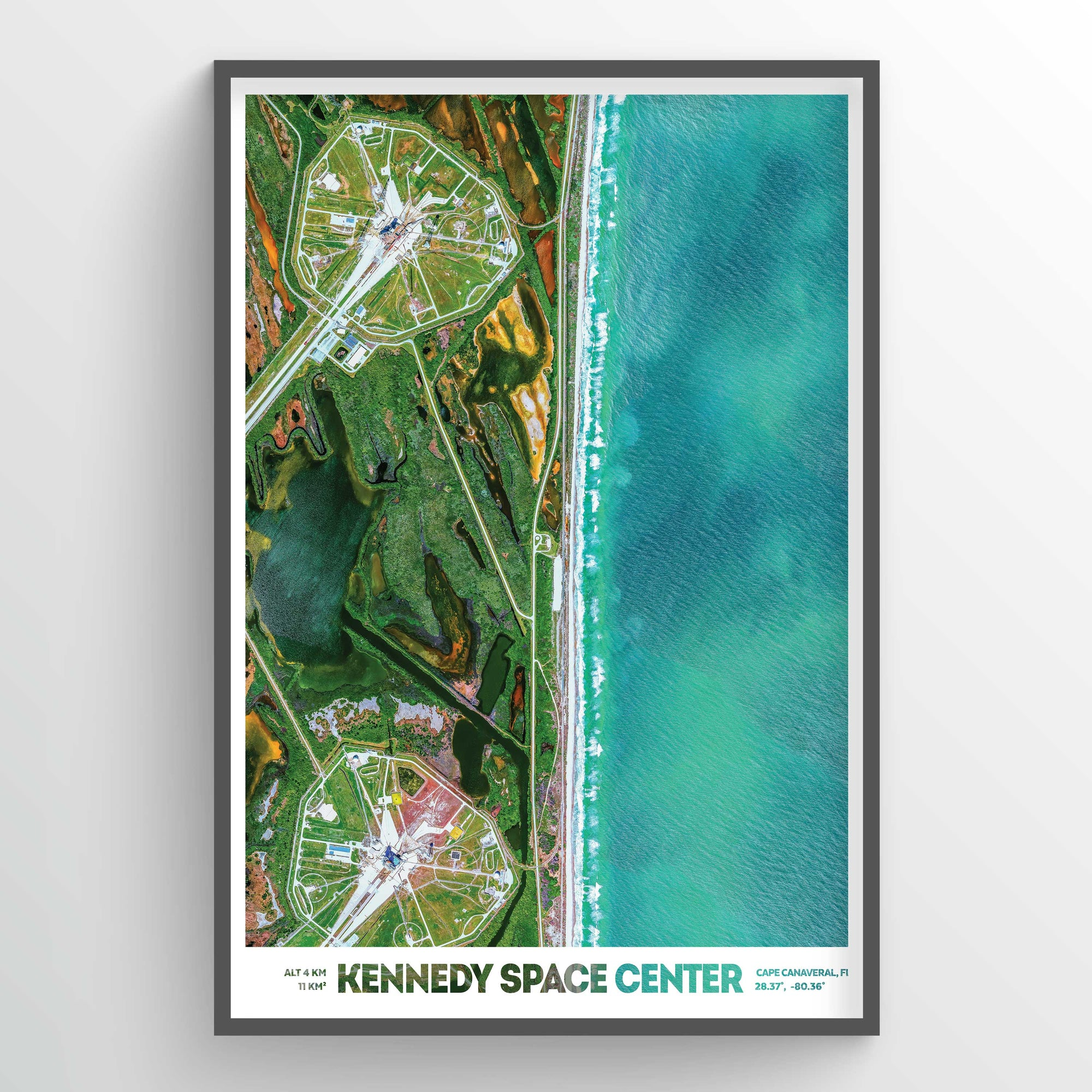 Kennedy Space Center Earth Photography - Art Print