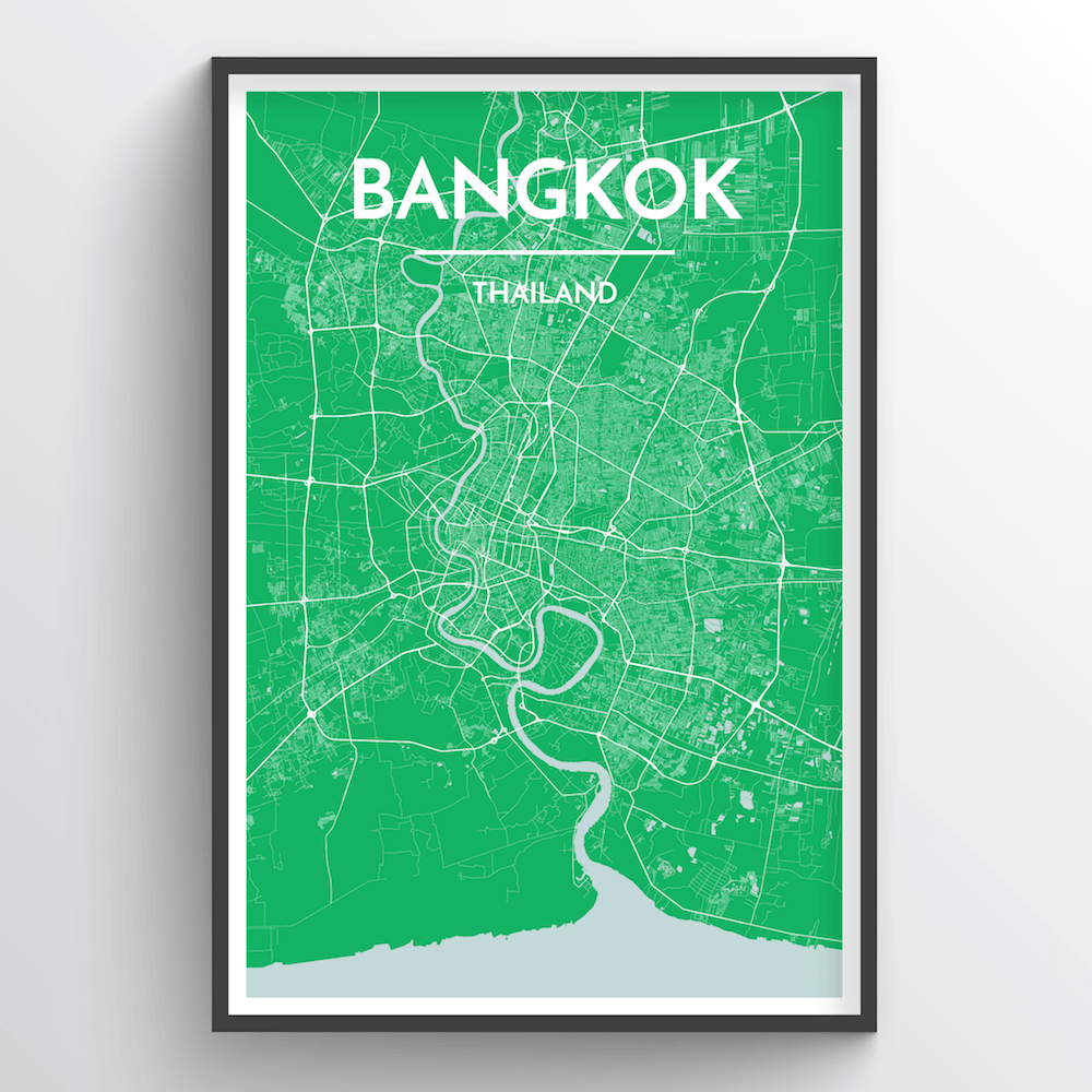 Bangkok Map Art Print - Point Two Design