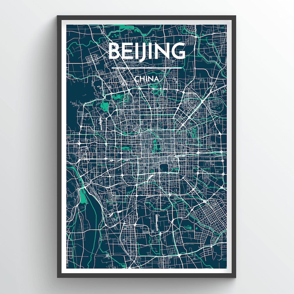 Beijing Map Art Print - Point Two Design
