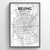 Beijing City Map Art Print - Point Two Design