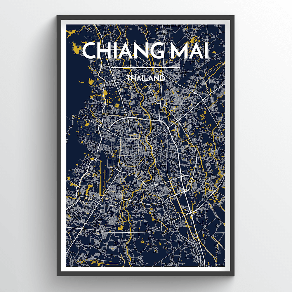 Chiang Mai Map Art Print - Point Two Design