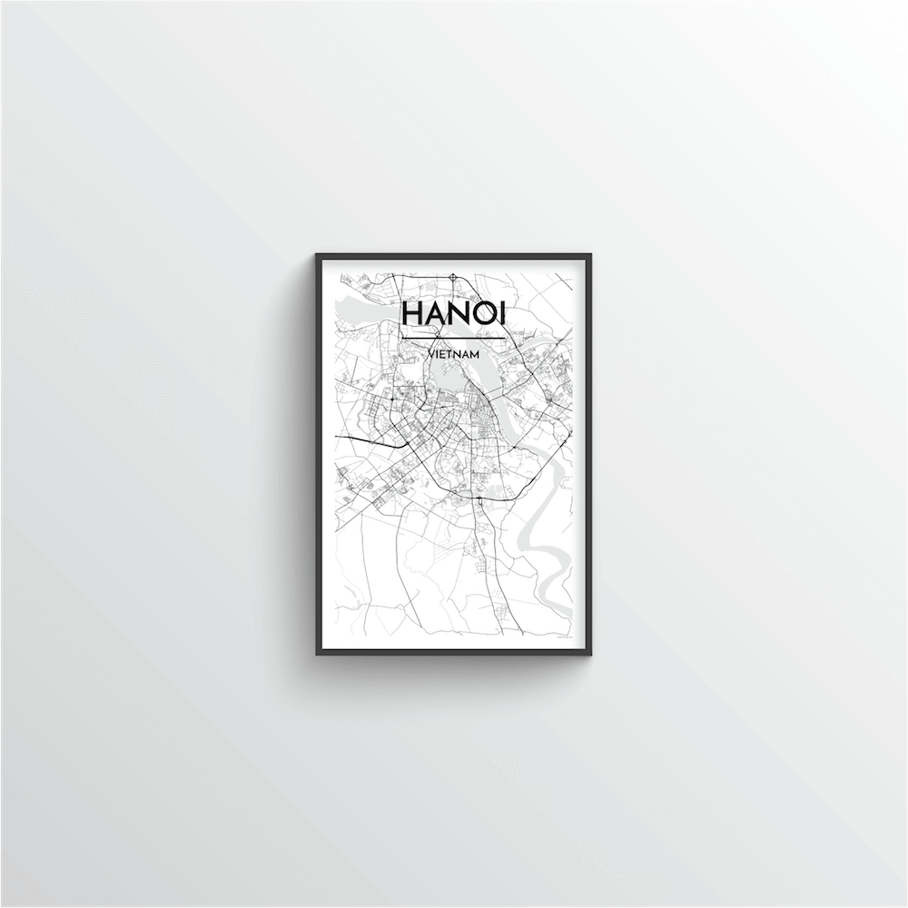 Hanoi Map Art Print