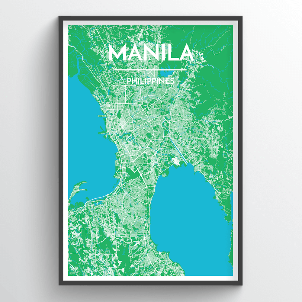 Manila City Map Art Print - Point Two Design