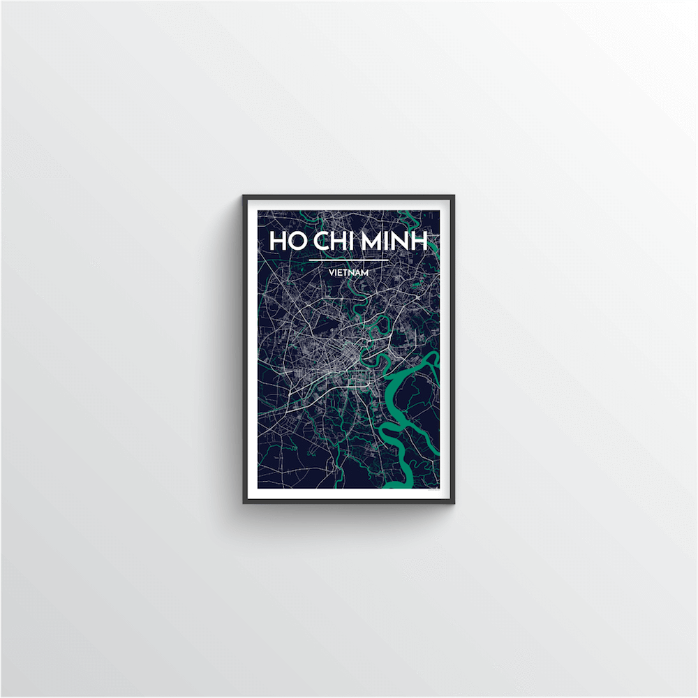 Ho Chi Minh Map Art Print