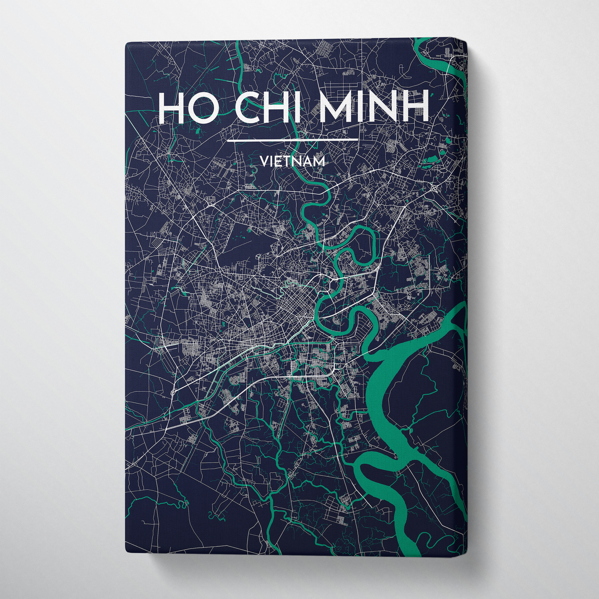 Ho Chi Minh City Map Canvas Wrap - Point Two Design