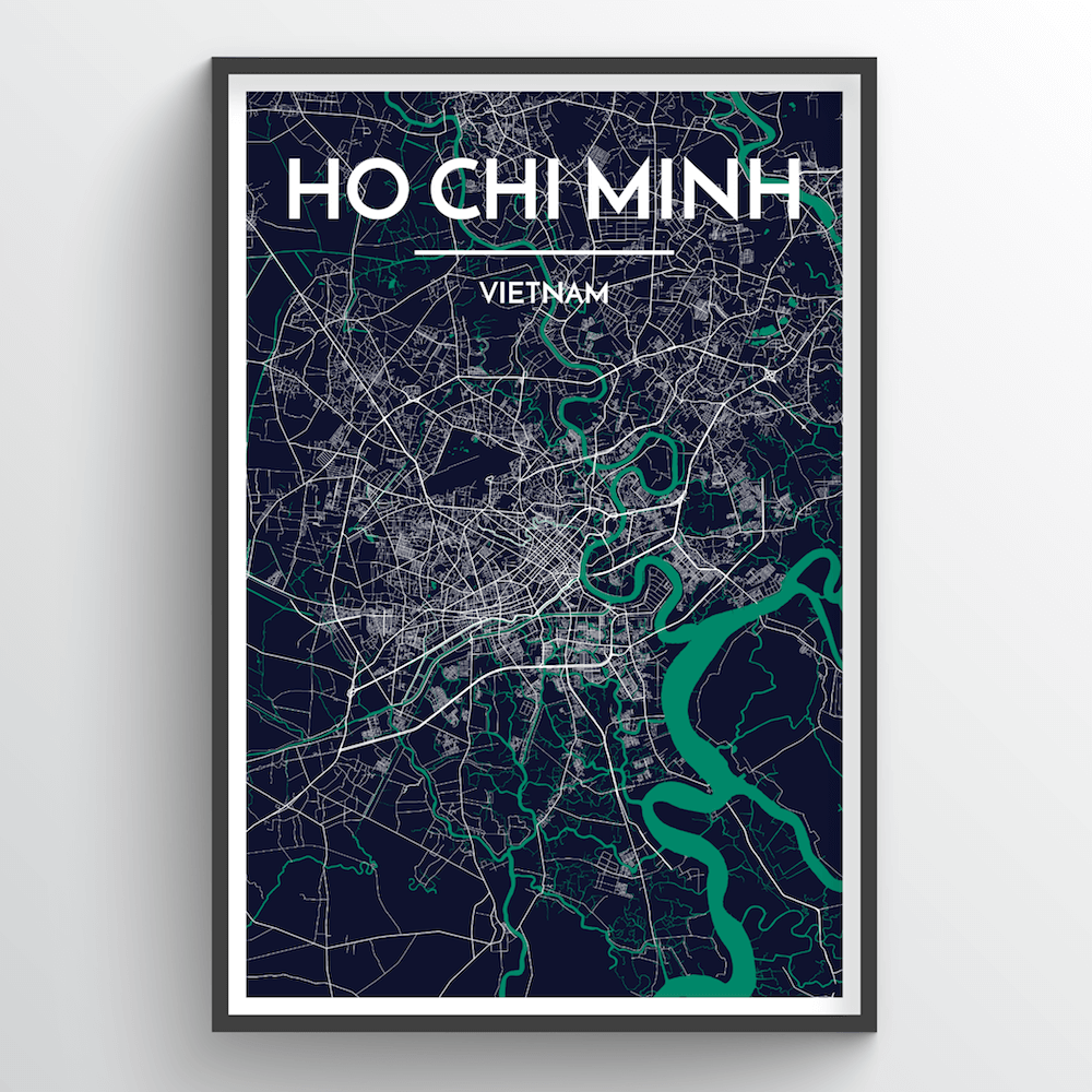 Ho Chi Minh City Map Art Print - Point Two Design
