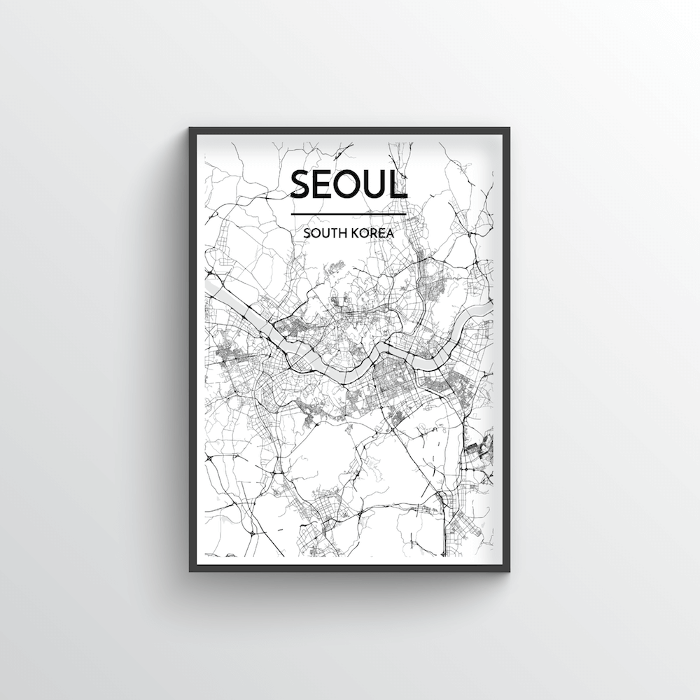 Seoul City Map Art Print - Point Two Design