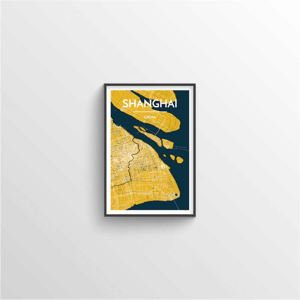 Shanghai Map Art Print