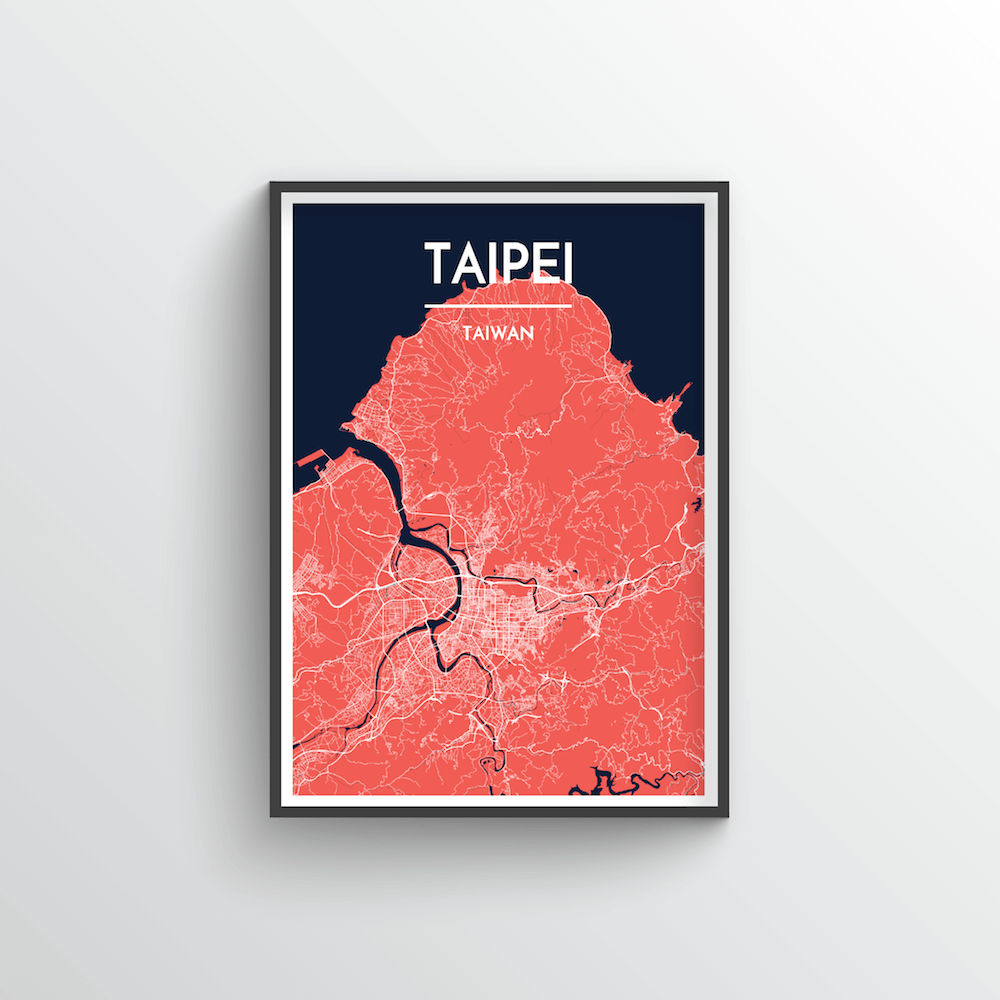 Taipei Map Art Print - Point Two Design