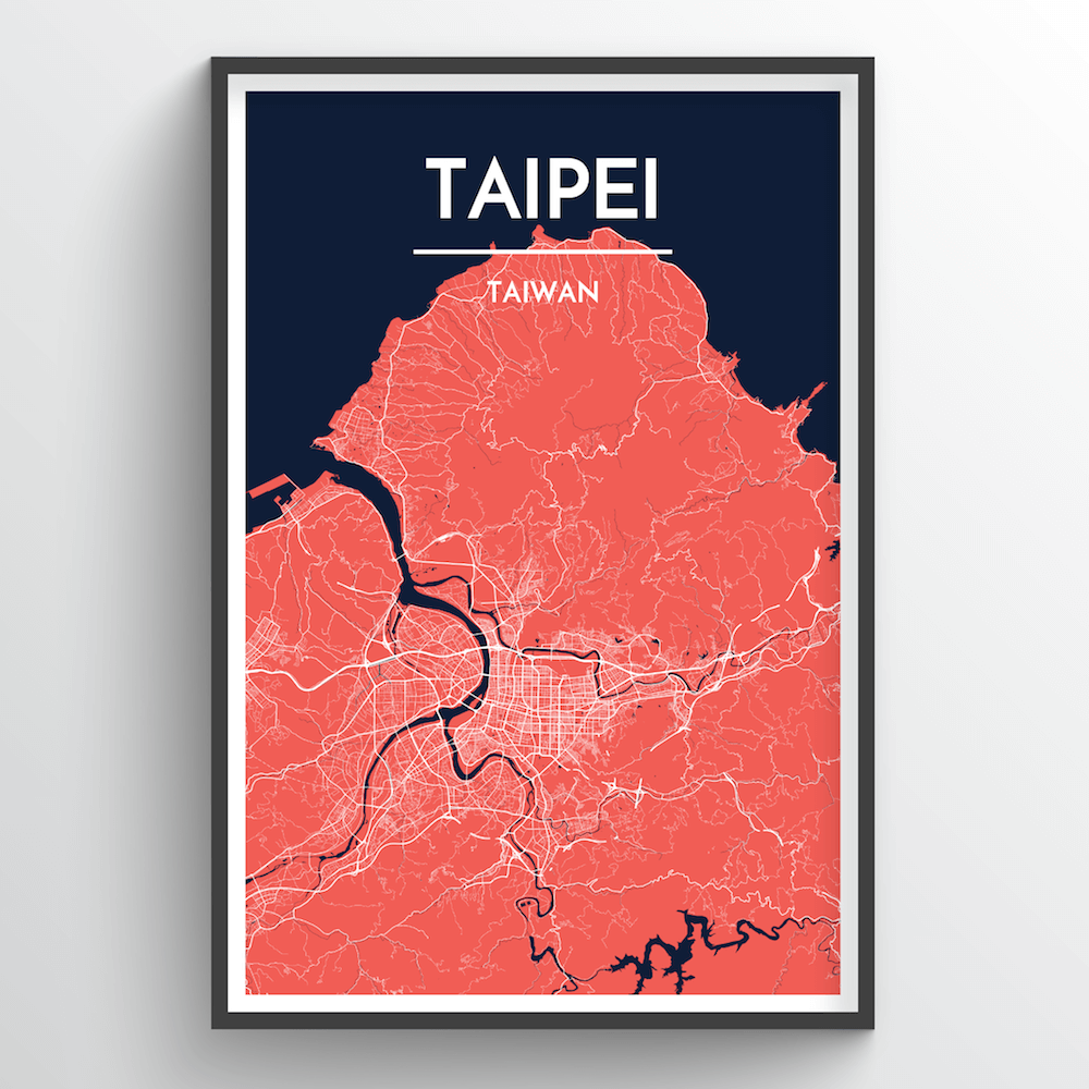 Taipei City Map Art Print - Point Two Design