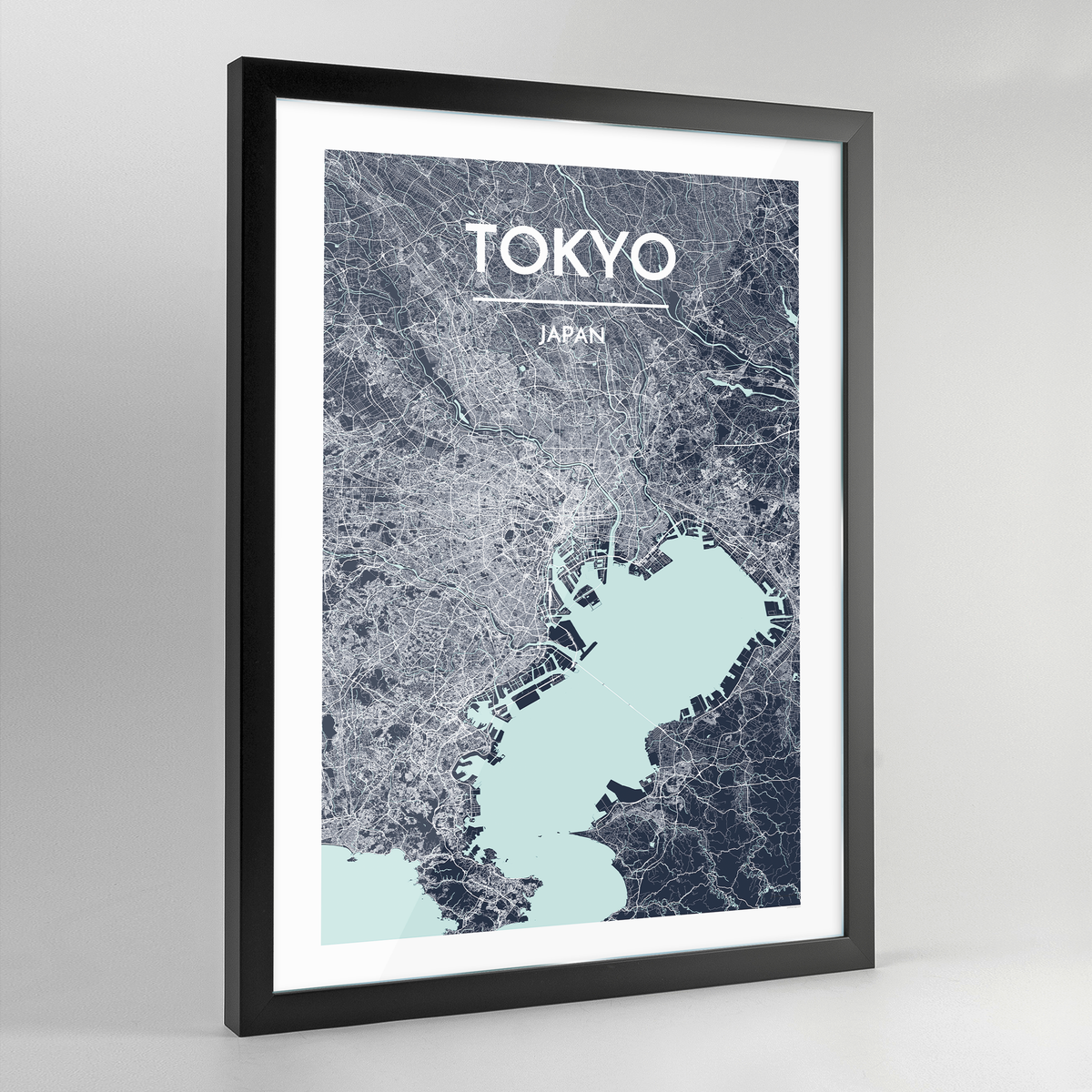 Framed Tokyo City Map Art Print - Point Two Design