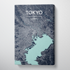 Tokyo City Map Canvas Wrap - Point Two Design