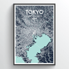 Tokyo City Map Art Print - Point Two Design