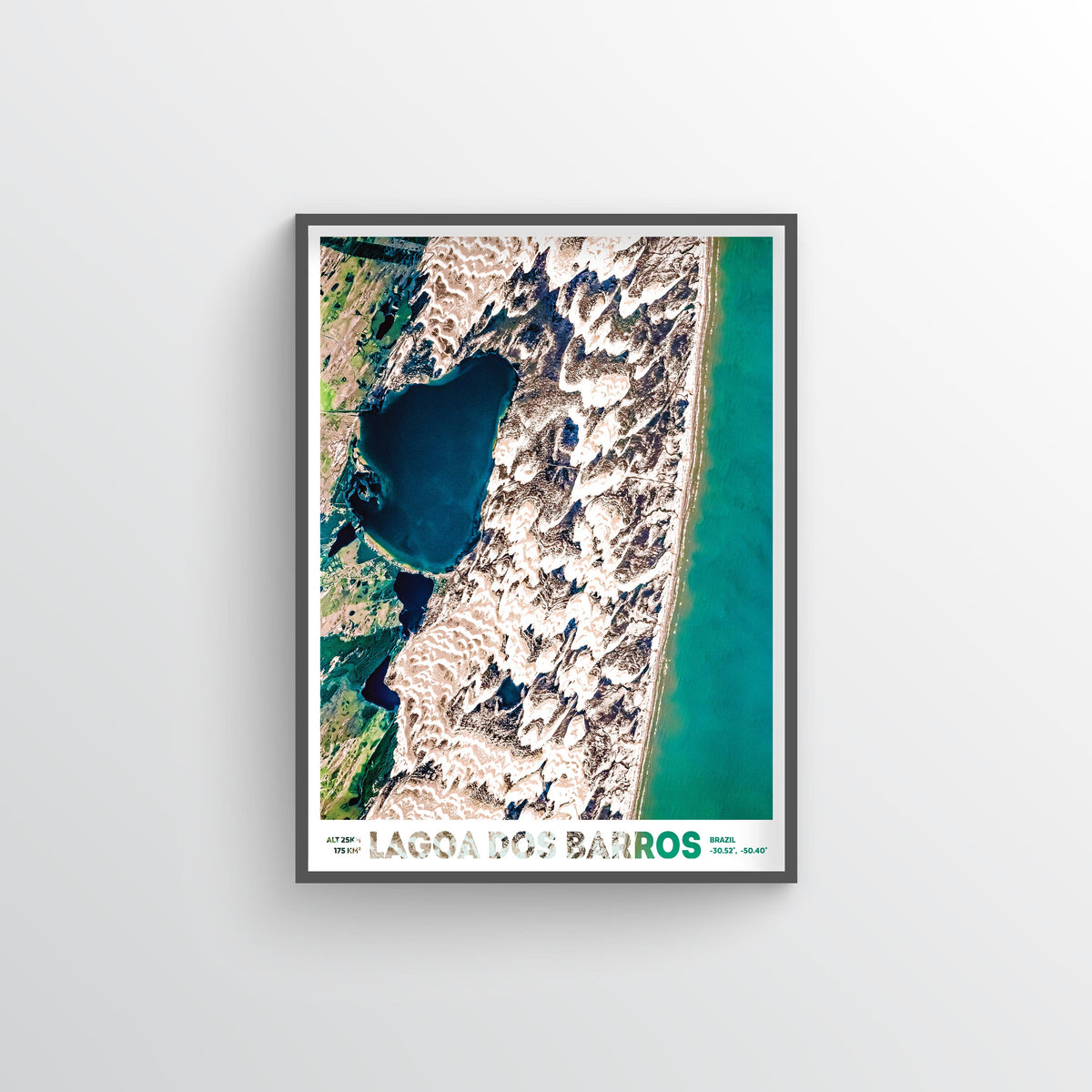 Lagoa Dos Barros Earth Photography - Art Print