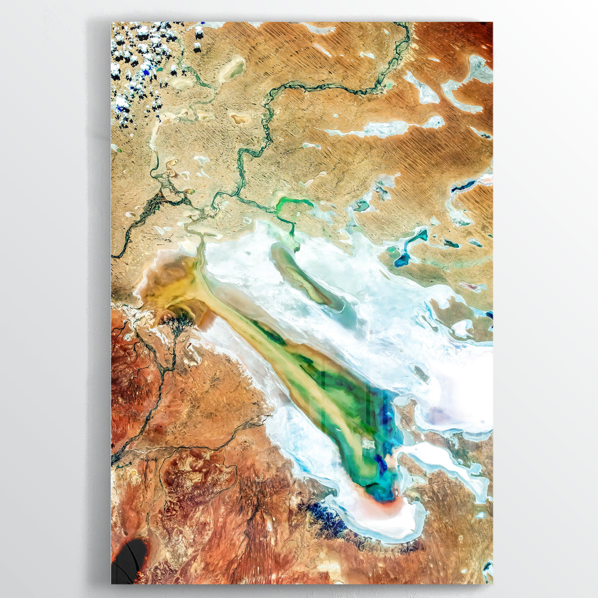 Lake Eyre Earth Photography - Floating Acrylic Art